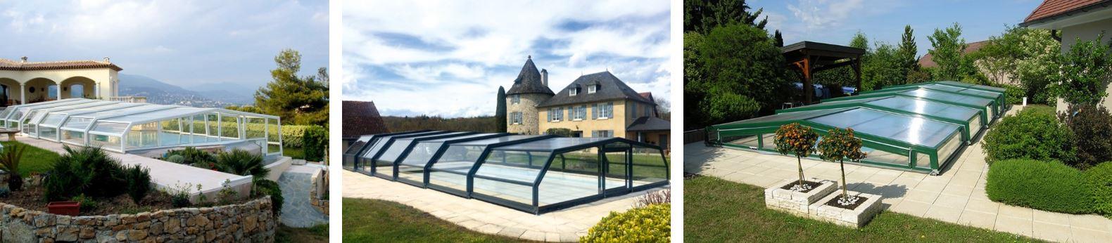 les abris de piscine v nus habiller sa piscine d un crin pour en profiter toute l ann e. Black Bedroom Furniture Sets. Home Design Ideas